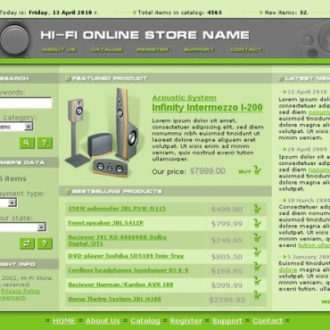 Audio Store Website Template