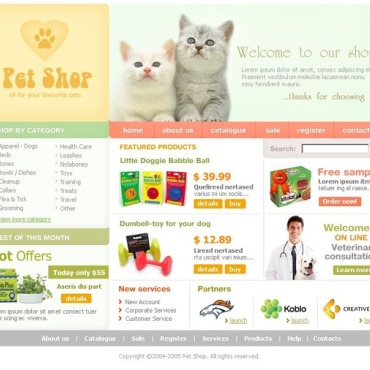 Pet Shop SWiSH Template