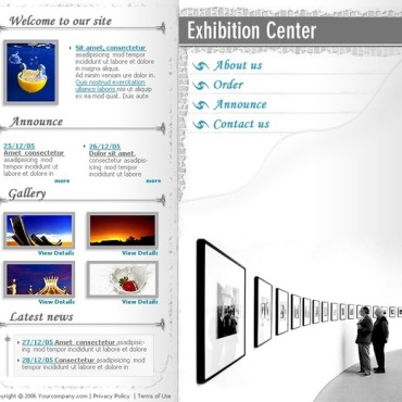 Art Gallery Flash Template