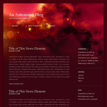Astronomy WordPress Theme