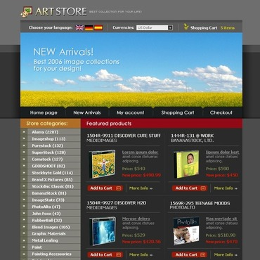 Art Store OsCommerce Template