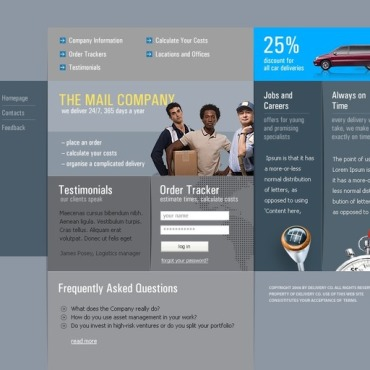 Delivery Services Website Template