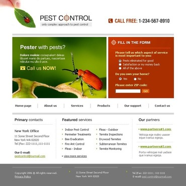 Pest Control Website Template