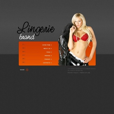 Lingerie Flash Template