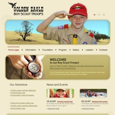 Boy Scout Website Template