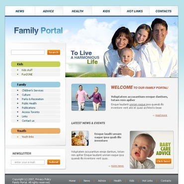 Family Website Template