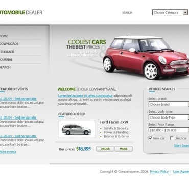 Car Dealer PHP-Nuke Template