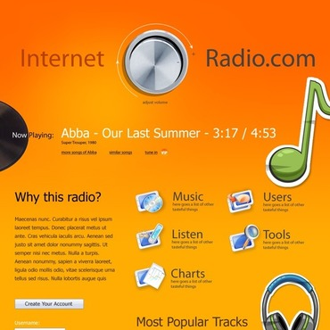Radio Website Website Template