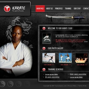 Martial Arts Flash Template