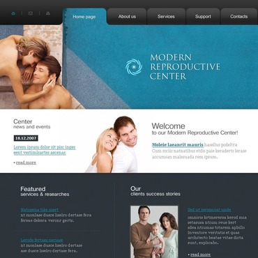 Reproduction Clinic Website Template