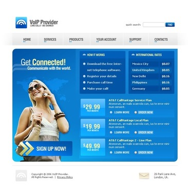VOIP SWiSH Template