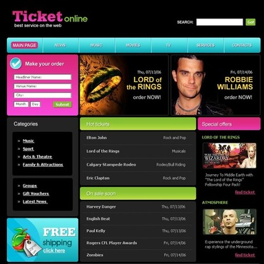 Tickets Website SWiSH Template