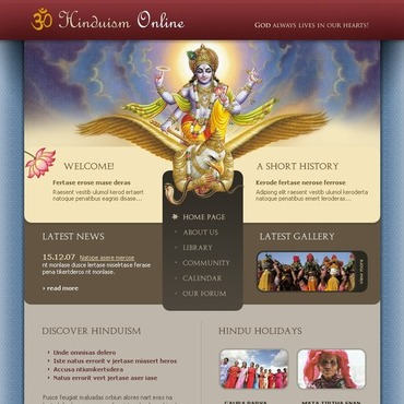 Hinduism Website Template #17553