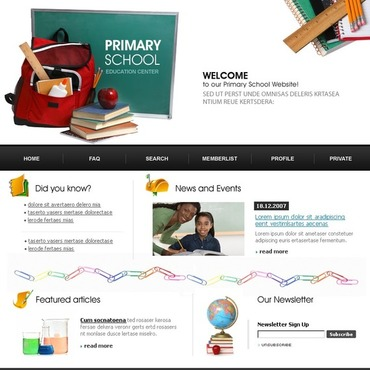 Primary School PhpBB Template
