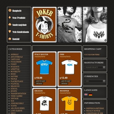 T-shirt Shop CRE Loaded Template