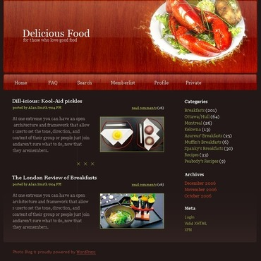 Food & Drink PhpBB Template