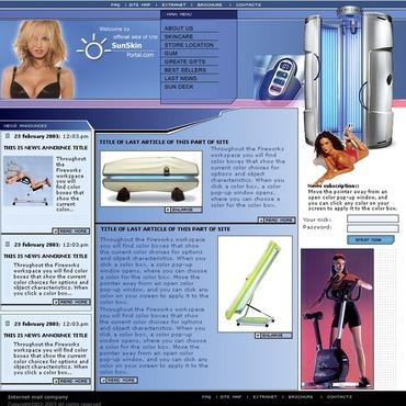 Tanning Salon Website Template