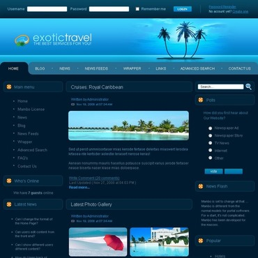 Travel Guide Mambo Template