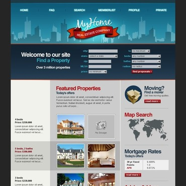 Real Estate Agency PhpBB Template