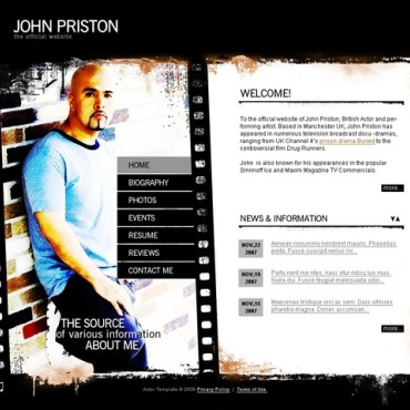 Personal Page Responsive Flash Template