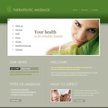 Massage Salon SWiSH Template