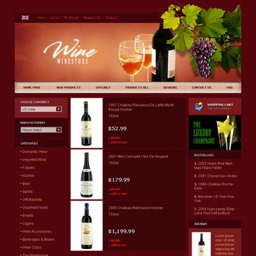 Wine ZenCart Template