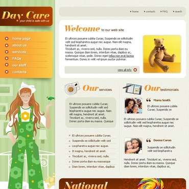 Day Care Website Template