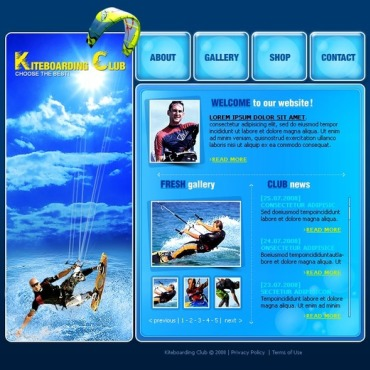 Kitesurfing Flash Template