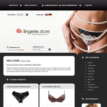 Lingerie CRE Loaded Template