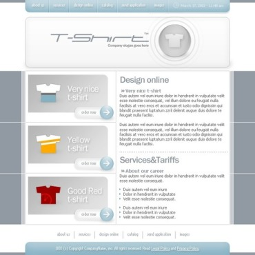 T-shirt Shop Website Template