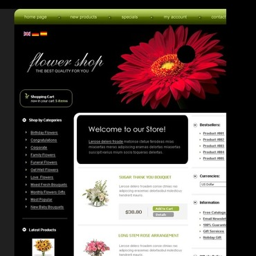 Flower Shop CRE Loaded Template