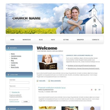 Christian Joomla Template