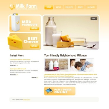 Cattle Farm Website Template