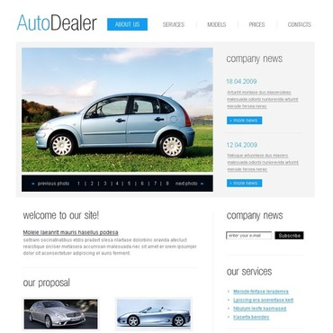 Car Dealer SWiSH Template