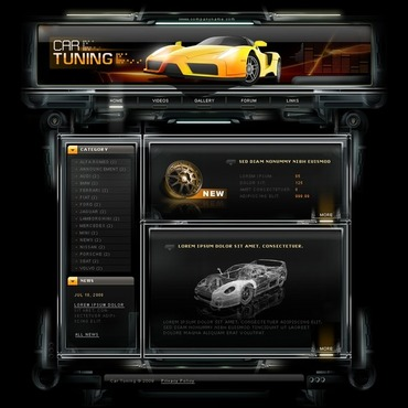 Car Tuning Website Template