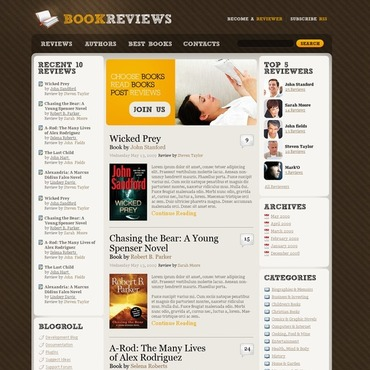 Book Reviews WordPress Theme