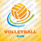 Volleyball Logo Template