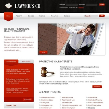 Lawyer Joomla Template