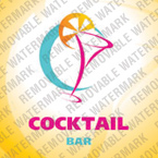 Cocktail Bar Logo Template