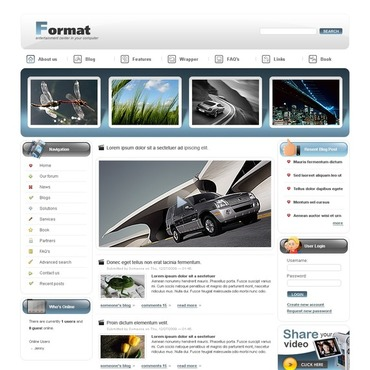 Video Gallery Drupal Template