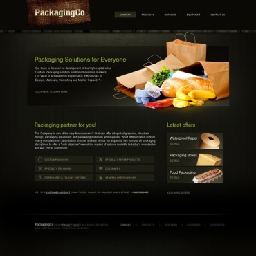 Packaging Website Template