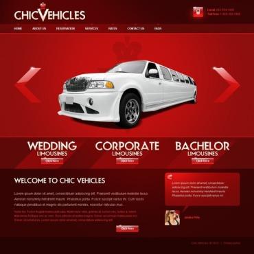 Limousine Services Website Template