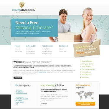 Moving Company Website Template