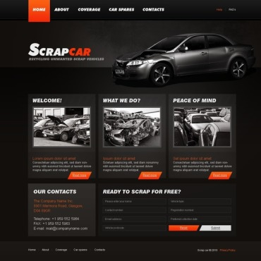 Car Scrap Yard Website Template