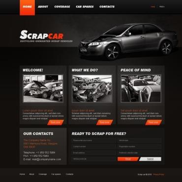 Car Scrap Yard Website Template