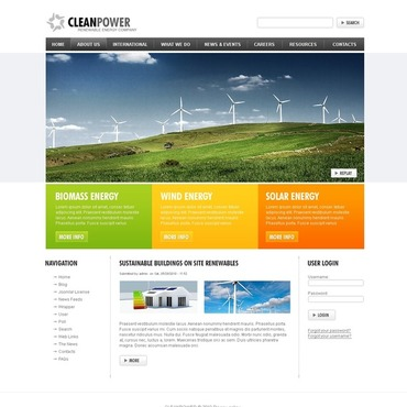 Wind Energy Drupal Template