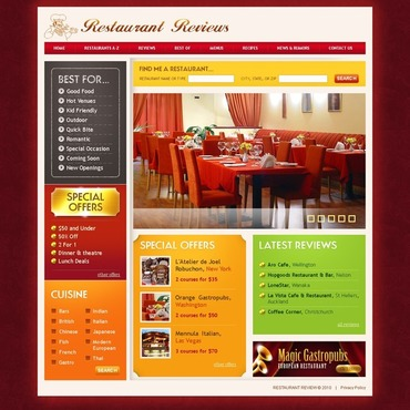 Restaurant Reviews Website Template