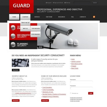 Security Joomla Template #29957