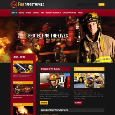 Fire Department Website Template