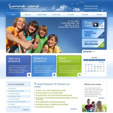 Summer Camp Website Template